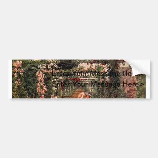 Art vintage de jardin - Martin, faucheur de Thomas Autocollant De Voiture