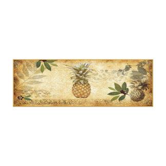 Art vintage de mur de toile d'ananas toiles