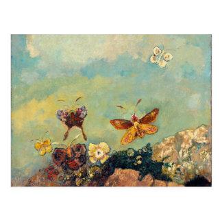 Art vintage de symbolisme de papillons d'Odilon Cartes Postales