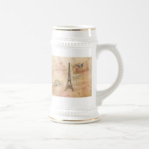 Art vintage de Tour Eiffel Mug