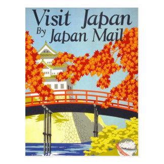 Art vintage de voyage du Japon de visite Cartes Postales