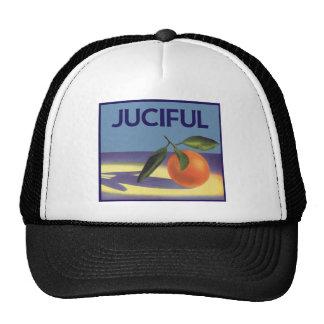 Art vintage d'étiquette de caisse de fruit, casquettes de camionneur
