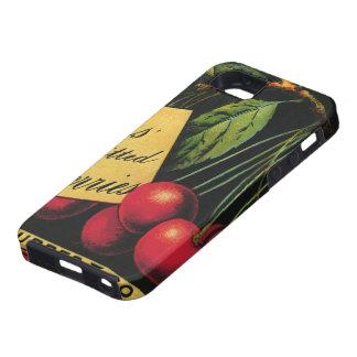 Art vintage d'étiquette de caisse de fruit, coque Case-Mate iPhone 5