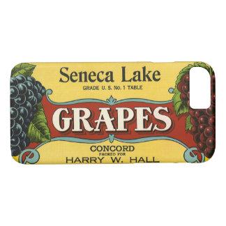 Art vintage d'étiquette de caisse de fruit, coque iPhone 7