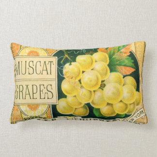 Art vintage d'étiquette de caisse de fruit, coussin rectangle
