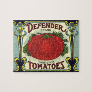 Art vintage d'étiquette de caisse de fruit, puzzle