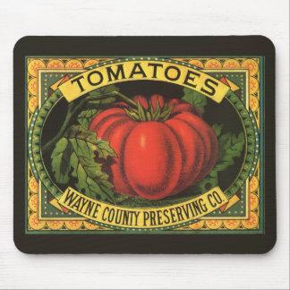 Art vintage d'étiquette de caisse de fruit, tapis de souris