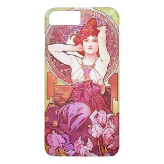 Art vintage floral Nouveau d'améthyste d'Alphonse Coque iPhone 7 Plus