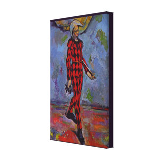 Art vintage - harlequin par Paul Cezanne Toiles