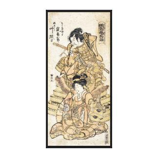 Art vintage japonais frais de guerrier de samuraj toiles