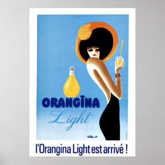 """Art vintage """"lumière d'Orangina """" Posters"""