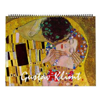 Art vintage Nouveau, beaux-arts de Gustav Klimt Calendrier Mural