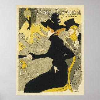 Art vintage Nouveau, café de boîte de nuit de Poster