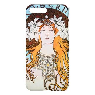 Art vintage Nouveau d'Alphonse Mucha Sarah Coque iPhone 7 Plus