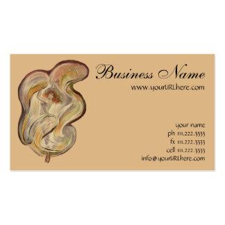 Art vintage Nouveau, danse de danseur de Loie de Carte De Visite Standard