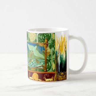 Art vintage Nouveau de conception de tuile Mug Blanc