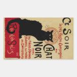 Art vintage Nouveau, Le Chat Noir Sticker Rectangulaire