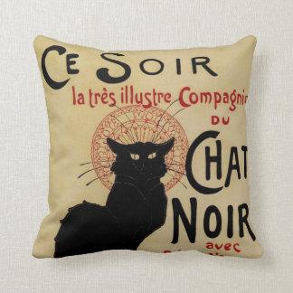 Art vintage Nouveau Le Chat Noir Coussin