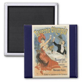 Art vintage Nouveau ; Olympia de Taverne, partie d Aimant Pour Réfrigérateur
