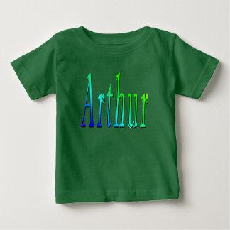 Arthur, nom, logo, T-shirt vert de bébés