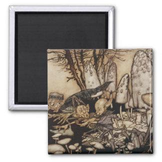 Arthur Rackham | Peter Pan dans des jardins de Magnet Carré