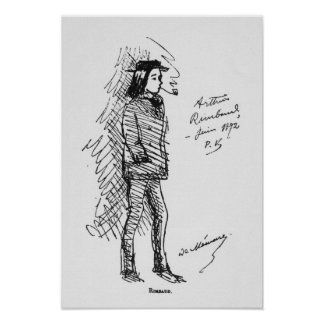 Arthur Rimbaud en juin 1872 Posters