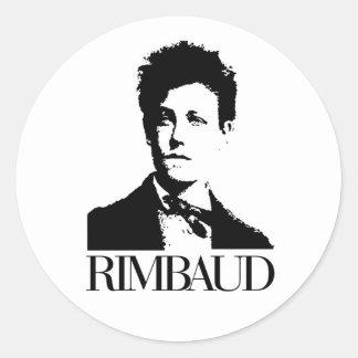 Arthur Rimbaud Sticker Rond