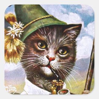 Arthur Thiele - chat bavarois d'Alpes Sticker Carré