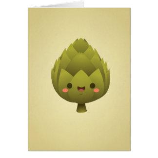 Artichaut de Kawaii Carte De Vœux