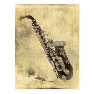 Articles de décoration antiques de saxophone cartes postales