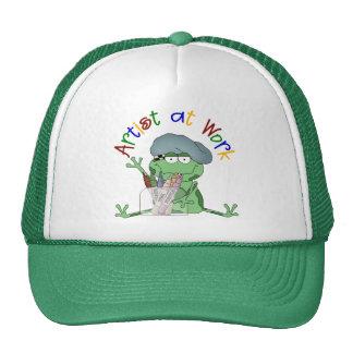 Artiste au cadeau d'école de travail casquettes