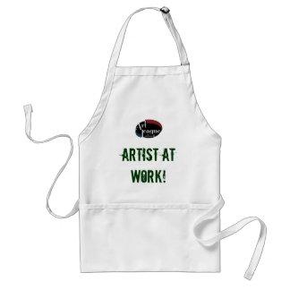 Artiste au tablier d'art de travail