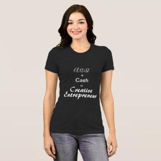 Artiste créatif de T-shirt d'entrepreneur plus