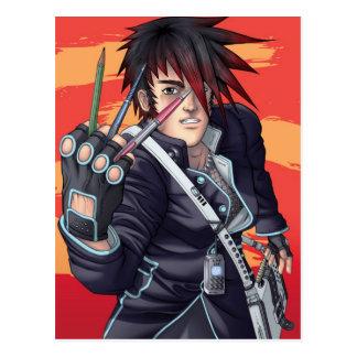 Artiste de Manga d'Anime Cartes Postales