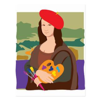 Artiste de Mona Lisa Cartes Postales