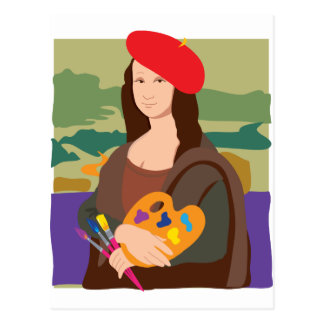 Artiste de Mona Lisa Carte Postale