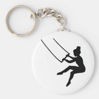 artiste de trapèze porte-clé rond