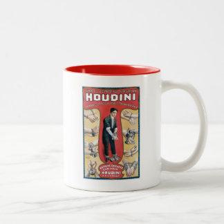 Artiste d'évasion magique vintage de menotte de tasse 2 couleurs