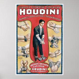 Artiste d'évasion vintage de menotte de ~ de Houdi Posters