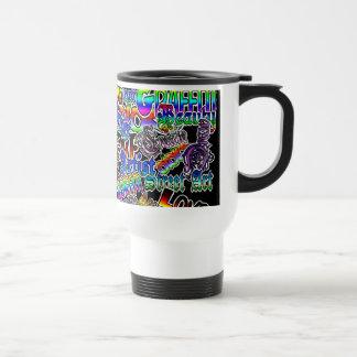 """Artiste du graffiti le """"AR"""" nomme la tasse de café"""