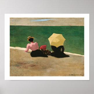 """Artiste Félix Vallotton/""""sur plage"""" Affiches"""