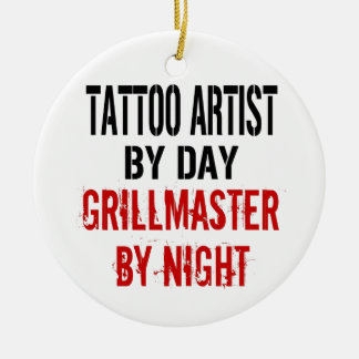Artiste Grillmaster de tatouage Ornement Rond En Céramique