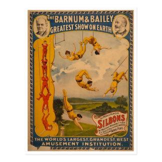 Artistes de trapèze Barnum et Bailey 1896 Carte Postale