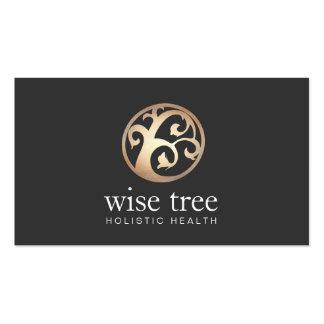Arts curatifs alternatifs élégants de logo d'arbre carte de visite