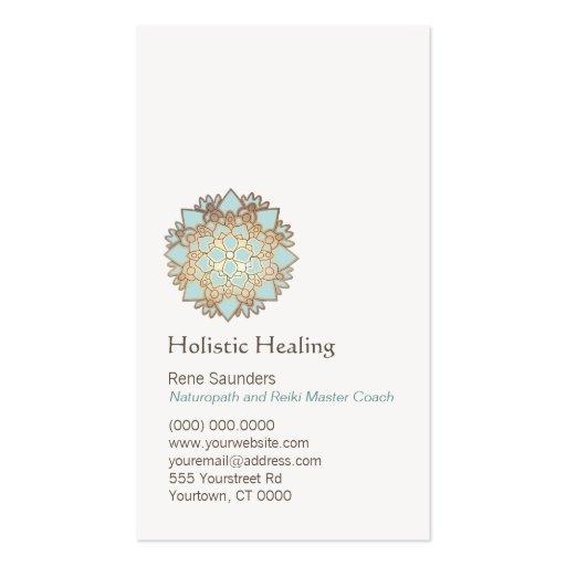Arts curatifs de Lotus d'or bleu et guérison Cartes De Visite Personnelles