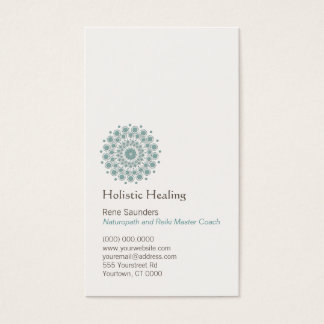 Arts curatifs et logo curatif naturel de cercle cartes de visite