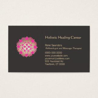 Arts curatifs naturels holistiques roses de fleur cartes de visite