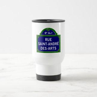 Arts de DES de Saint-André de rue, plaque de rue Mug De Voyage En Acier Inoxydable