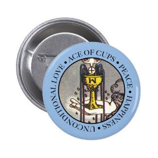 As de bouton de tasses avec le texte badge
