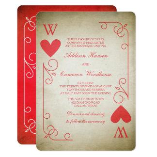 As vintage de épouser de coeurs carton d'invitation  12,7 cm x 17,78 cm